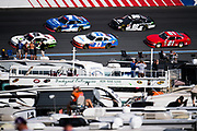 September 28-30, 2018. Charlotte Motorspeedway, Xfinity Series, Drive for the Cure 200: Tyler Reddick, JR Motorsports, Chevrolet, Elliott Sadler, JR Motorsports, Chevrolet, Spencer Gallagher, GMS Racing, Chevrolet, Andy Lally, DGM Racing, Chevrolet, Lawson Aschenbach, JD Motorsports, Chevrolet