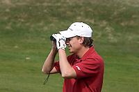 ZANDVOORT: MAARTEN LAFEBER. Floris de Vries en Tim Sluiter, leden van Golfteam Holland,  spelen op de Kennemer met Maarten Lafeber (foto).