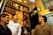 """A Baíuca"", one of the Alfama restaurants where Fado, now World Heritage, can be heard, as part of a long-established Lisbon tradition. The Alfama district is part of the way of nº28 yellow tram, through the central, most historic region of the city."