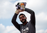 LONDON, ENGLAND - APRIL 14: Julián Speroni (1) of Crystal Palace during the Premier League match between Crystal Palace and Brighton and Hove Albion at Selhurst Park on April 14, 2018 in London, England. (Photo by MB Media/Getty Images)