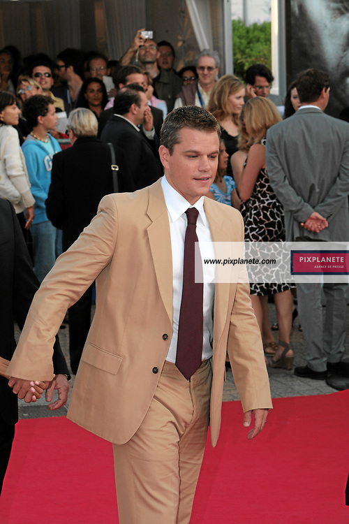 Matt Damon et son amie - 33 ème festival du film américain de Deauville - 2/09/2007 - JSB / PixPlanete