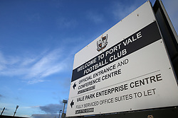 Vale Park before Port Vale's and Coventry City's match at Vale Park