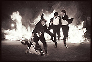 Burning boat, Oriel. Oxford 1984