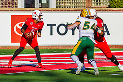 NORMAL, IL - October 16: Bryce Jefferson during a college football game between the NDSU (North Dakota State) Bison and the ISU (Illinois State University) Redbirds on October 16 2021 at Hancock Stadium in Normal, IL. (Photo by Alan Look)