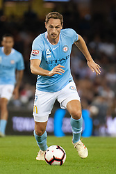February 23, 2019 - Melbourne, VIC, U.S. - MELBOURNE, VIC - FEBRUARY 23: Melbourne City midfielder Rostyn Griffiths (7) controls the ball at round 20 of the Hyundai A-League Soccer between Melbourne City FC and Melbourne Victory on February 23, 2019 at Marvel Stadium, VIC. (Photo by Speed Media/Icon Sportswire) (Credit Image: © Speed Media/Icon SMI via ZUMA Press)