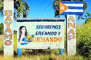 Sign near Bayamo, Granma, Cuba.