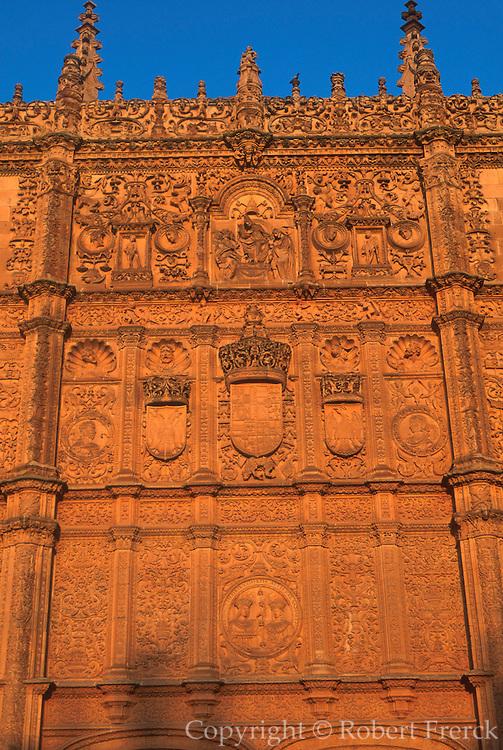 SPAIN, CASTILE, SALAMANCA University, 'Plateresque' façade