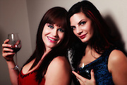 USA, Oregon, Springfield,a couple  Young Women enjoying Saturday Night. MR