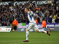 Photo: Rich Eaton.<br /> <br /> Wolverhampton Wanderers v Sheffield Wednesday. Coca Cola Championship. 28/10/2006. Chris Brunt celebrates after scoring for Sheffield Wednesday to make the score 2-1 to Wednesday