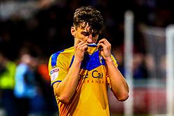 A dejected James Clarke of Mansfield Town - Mandatory by-line: Ryan Crockett/JMP - 04/01/2020 - FOOTBALL - One Call Stadium - Mansfield, England - Mansfield Town v Grimsby Town - Sky Bet League Two