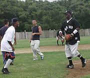 Damon Dash & Sean Puffy Combs .Bad Boy vs. Rocafella Baseball Game.To benefit disadvantaged kids.Stony Park.Easthampton, NY.July 4th, 2001.Photo by Celebrityvibe.com..