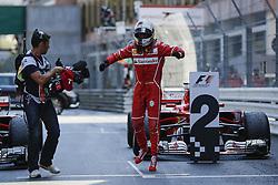 May 28, 2017 - Monte Carlo, Monaco - SEBASTIAN VETTEL of Germany and Scuderia Ferrari celebrates after winning the 2017 Formula 1 Monaco Grand Prix in Monte Carlo, Monaco. (Credit Image: © James Gasperotti via ZUMA Wire)