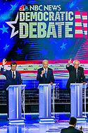Democratic presidential candidates speak during the first primary debate for the 2020 elections at the Adrienne Arsht Center for the Performing Arts in downtown Miami on Thursday, June 27, 2019.