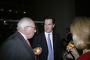 RONNIE GRIERSON, GEORGE AND FRANCES OSBORNE, Royal Festival Hall First Night Gala. Southbank Centre. London. 11 June 2007.  -DO NOT ARCHIVE-© Copyright Photograph by Dafydd Jones. 248 Clapham Rd. London SW9 0PZ. Tel 0207 820 0771. www.dafjones.com.