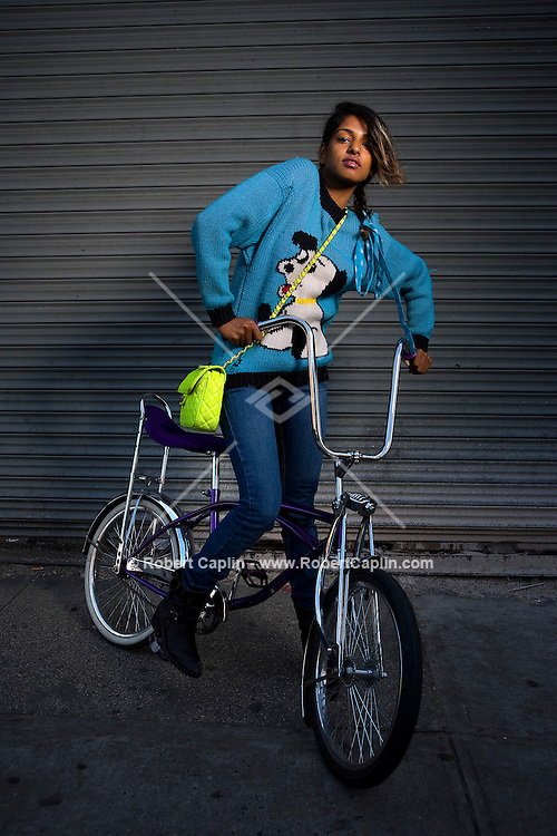 Rapper M.I.A. poses for a portrait in New York, U.S.  April 9, 2007