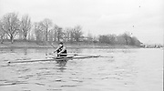 London. United Kingdom.  Lin CLARKE training on the Tideway 1987 Pre Fixture, Varsity Boat Race. National Squad vs Cambridge University BC on the Championship Course Mortlake to Putney. River Thames.  Saturday 21.03.1987<br /> <br /> [Mandatory Credit: Peter SPURRIER/Intersport Images]