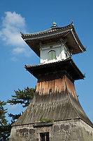Takadoro Lantern is a 27.6-meter tall wooden tower next to the Kotoden station. It was built in 1865 to serve as a warning beacon in times of trouble..