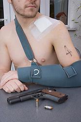 Gun crime UK Posed by model