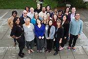 Alumini pose for a group photo as the Service Employees International Union host thier SEIU BOLD Retreat at Dolce Hayes Mansion in San Jose, California, on November 21, 2013. (Stan Olszewski/SOSKIphoto)