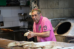A traditional baker in Jewish west Jerusalem. From a series of travel photos taken in Jerusalem and nearby areas. Photo date: Monday, July 30, 2018. Photo credit should read: Richard Gray/EMPICS