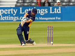 Durham's Phil Mustard bats - Mandatory by-line: Robbie Stephenson/JMP - 07966386802 - 04/08/2015 - SPORT - CRICKET - Bristol,England - County Ground - Gloucestershire v Durham - Royal London One-Day Cup