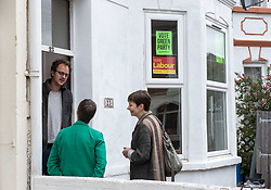 © Licensed to London News Pictures.  27/05/2017; Bristol, UK. General Election 2017; CAROLINE LUCAS and MOLLY SCOTT CATO campaign in their number one target seat, Bristol West where they hope to gain their second Green MP with candidate Molly Scott Cato (currently MEP for the south west of England). Bristol West is currently held by Labour but the Greens came second in 2015. Some households are split between the two parties. Picture credit : Simon Chapman/LNP