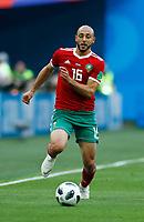 Noureddine Amrabat (Morocco)<br /> Saint Petersburg 15-06-2018 Football FIFA World Cup Russia  2018 <br /> Morocco - Iran / Marocco - Iran <br /> Foto Matteo Ciambelli/Insidefoto