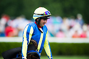 April 29, 2017, 22nd annual Queen's Cup Steeplechase. Jockey Shane Crimin