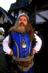 Stock photo of a costumed man with a large beard at the Texas Renaissance Festival in Plantersville Texas