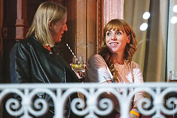 © Licensed to London News Pictures. 24/09/2021. Brighton, UK. Labour Party Deputy Leader ANGELA RAYNER MP is seen on the terrace of the Brighton Metropole Hotel this evening (Friday 24th September 2021) ahead of the start of the Labour Party Conference . Photo credit: Joel Goodman/LNP