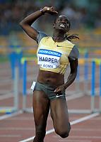 dawn harper vincitrice dei 100 ostacoli donne<br /> roma 10-07-2009<br /> stadio olimpico<br /> golden gala di atletica 2009<br /> foto massimo oliva insidefoto