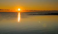Sunrise over Rehobeth Bay, Delaware, USA
