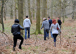 © under license to London News pictures. 22/10/2010. Locals and friends of Sian O'Callaghan help in the search in Savernake Wood, Wiltshire, today. Sian went missing three days ago from a night club in Swindon. Picture credit Stephen Simpson/LNP.