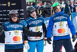 20.01.2018, Hahnenkamm, Kitzbühel, AUT, FIS Weltcup Ski Alpin, Kitzbuehel, Kitz Charity Trophy, im Bild v.l.: Javier Perez, James Toal, Fritz Strobl // f.l.: Javier Perez James Toal Fritz Strobl during the Kitz Charity Trophy of the FIS Ski Alpine World Cup at the Hahnenkamm in Kitzbühel, Austria on 2018/01/20. EXPA Pictures © 2018, PhotoCredit: EXPA/ Stefan Adelsberger