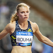 BRUSSELS, BELGIUM:  September 3:   Andrea Bouma of the Netherlands preparing for the Belgium V The Netherlands 400m race during the Wanda Diamond League 2021 Memorial Van Damme Athletics competition at King Baudouin Stadium on September 3, 2021 in  Brussels, Belgium. (Photo by Tim Clayton/Corbis via Getty Images)