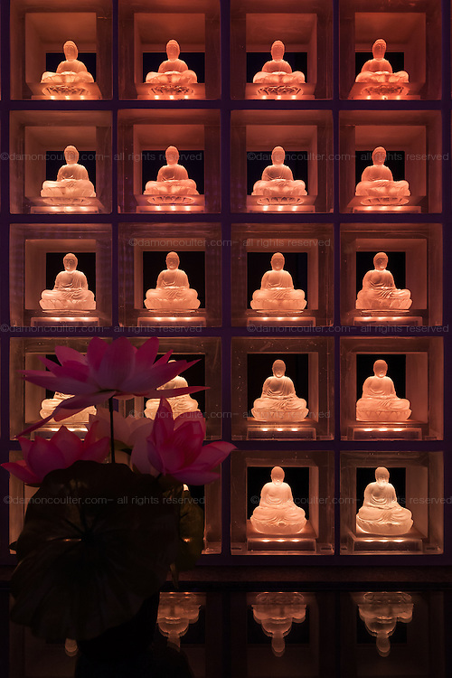 Ther Hall of Ctystal Buddhas, the Ruriden at Koukoko ji temple, Ichigaya, Tokyo, Japan. Friday November 18th 2016