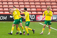 Football - 2020 / 2021 Sky Bet Championship - Barnsley vs Norwich City - Oakwell<br /> <br /> Adam Idah of Norwich City scores to level the match at 2-2<br /> <br /> Credit :COLORSPORT/BRUCE WHITE