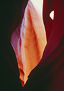 Navajo Sandstone tapestry and arch, Lower Antelope Canyon, Navajo Reservation, Arizona.