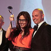 NLD/Amsterdam/20110515 - Coiffure awards 2011, Hester Wernert en Robert van der Sanden