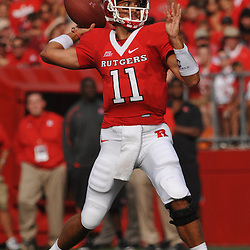 Sep 7, 2009; Piscataway, NJ, USA; Rutgers quarterback Domenic Natale (11) throws a pass during the first half of Rutgers game against Cincinnati in NCAA college football at Rutgers Stadium.