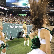 Jets cheerleaders during the New York Jets V Philadelphia Eagles Pre Season NFL match at MetLife Stadium, East Rutherford, NJ, USA. 29th August 2013. Photo Tim Clayton