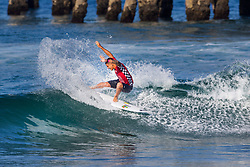 Ezekiel Lau (HAW) advances to Round 3 of the 2018 VANS US Open of Surfing after winning Heat 10 of Round 2 at Huntington Beach, California, USA.
