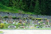 Austria, Tyrol The village of Gerlos, Cemetery