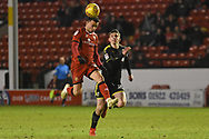 AFC Wimbledon defender Steve Seddon (15) chases the ball down during the EFL Sky Bet League 1 match between Walsall and AFC Wimbledon at the Banks's Stadium, Walsall, England on 12 February 2019.