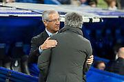 Mourinho and Gregorio Manzano salutation