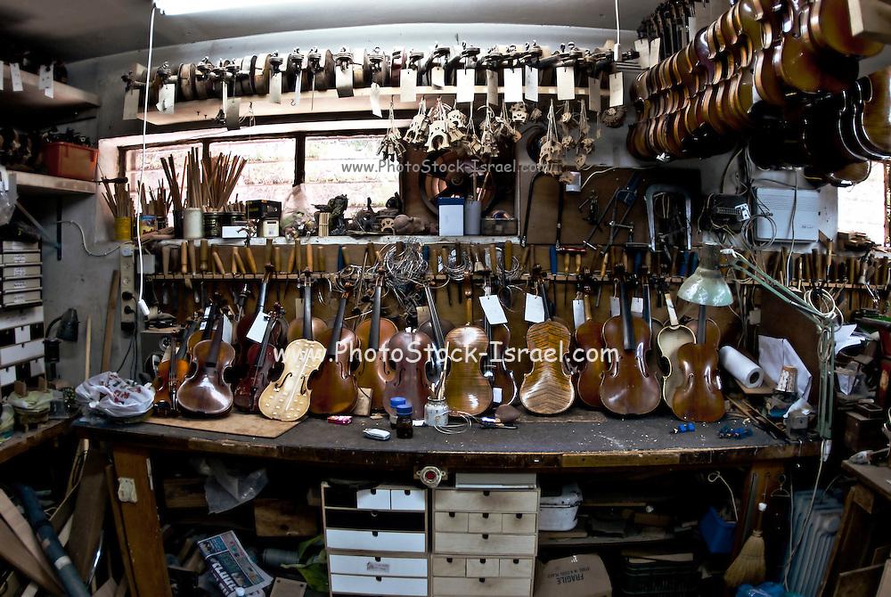 Violin repair workshop