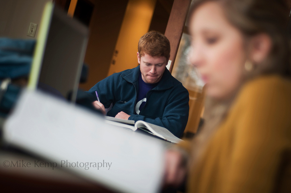 Students study in the UCA Student Center.