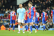 Manchester City Forward, Gabriel Jesus (33) and FC Basel Midfielder, Fabian Frei (6) during the Champions League match between Manchester City and FC Basel at the Etihad Stadium, Manchester, England on 7 March 2018. Picture by Mark Pollitt.