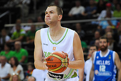 Uros Slokar of Slovenia during friendly match between National Teams of Slovenia and Greece before World Championship Spain 2014 on August 17, 2014 in Kaunas, Lithuania. Photo by Robertas Dackus / Sportida.com