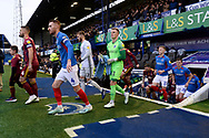 The teams walk out of the tunnel ahead of the EFL Sky Bet League 1 match between Portsmouth and Ipswich Town at Fratton Park, Portsmouth, England on 21 December 2019.